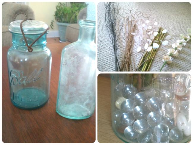 blue mason jars ting ting DIY