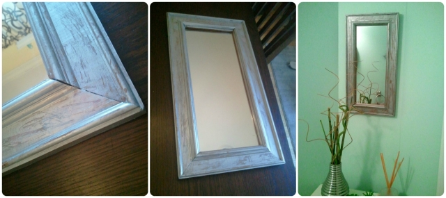 antiqued mirror DIY